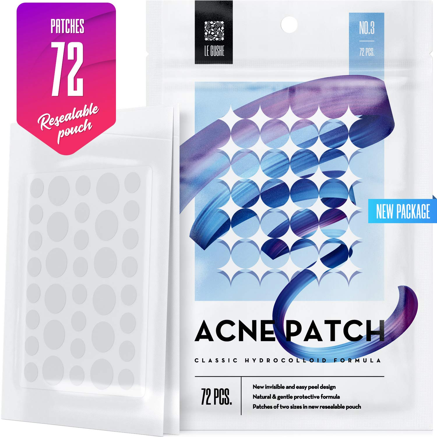 null - Acne Pimple Master Patch 72 dots - Absorbing Hydrocolloid Blemish Spot Skin Treatment and Care Dressing