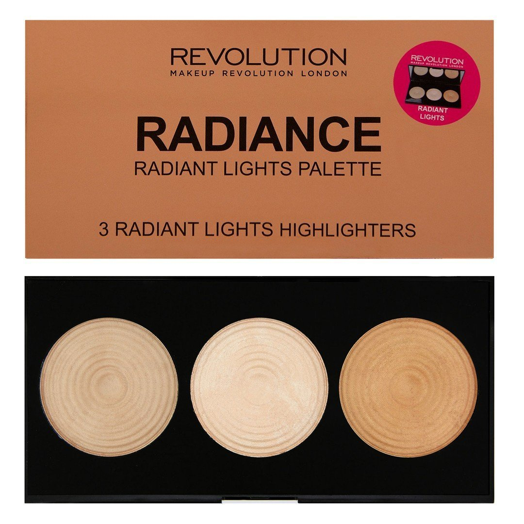 Makeup Revolution - Makeup Revolution - Highlighter Palette - Radiance - 3 Baked Highlighters Illuminators by Makeup Revolution