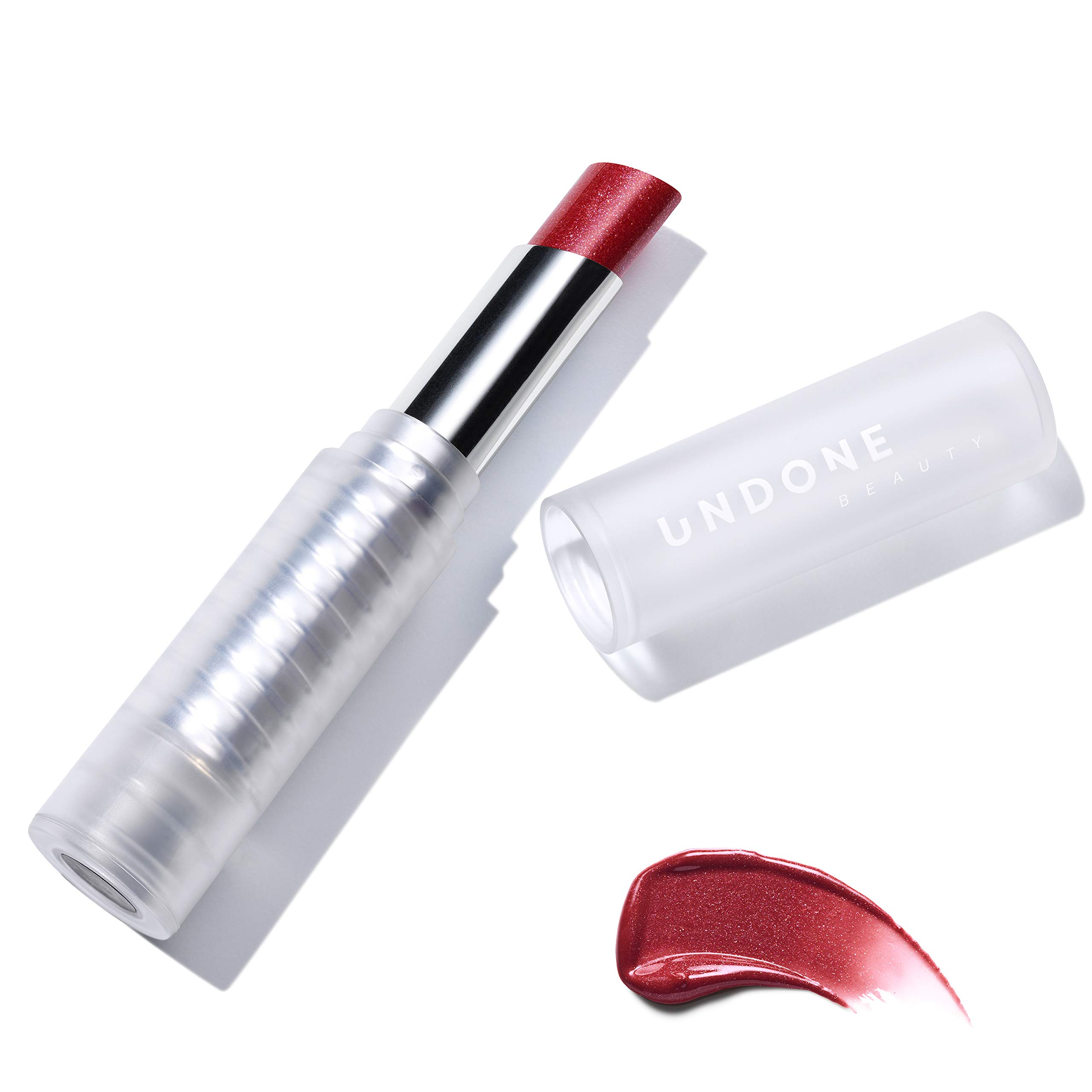 null - Light Reflecting, Lip Amplifying Lipstick. Sheer, Buildable, Hydrating Color - UNDONE BEAUTY Light On Lip. Aloe, Coconut & Volume Enhancing Pigment. Paraben, Vegan & Cruelty Free. ROYAL RED