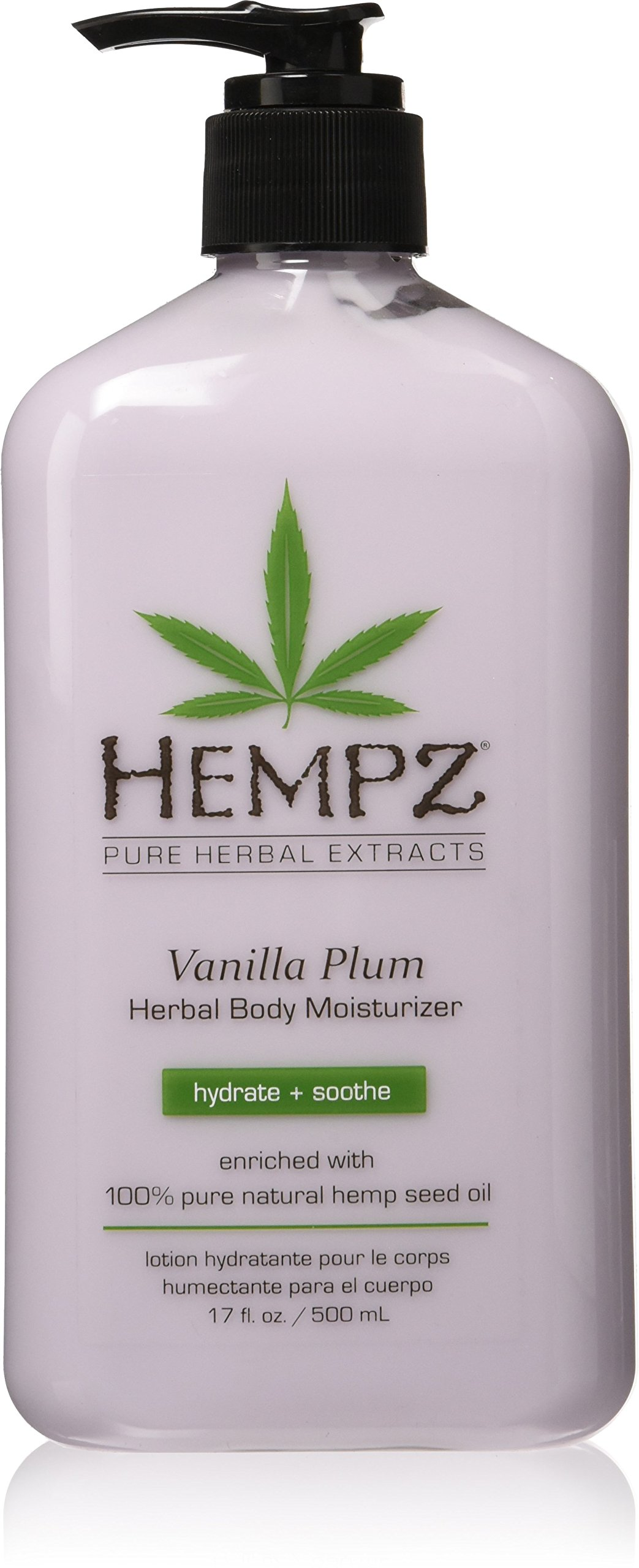 Hempz Hempz Herbal Body Moisturizer, Light Purple, Vanilla Plum, 17 Fluid Ounce