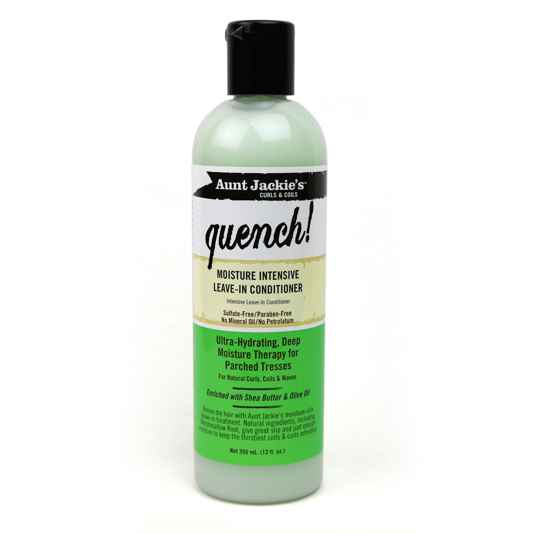 Aunt Jackie's - Aunt Jackie's Quench, Moisture Intensive Leave-in Conditioner, Ultra-Hydrating, Deep Moisture Therapy for Parched Hair, 12 Ounce Bottle