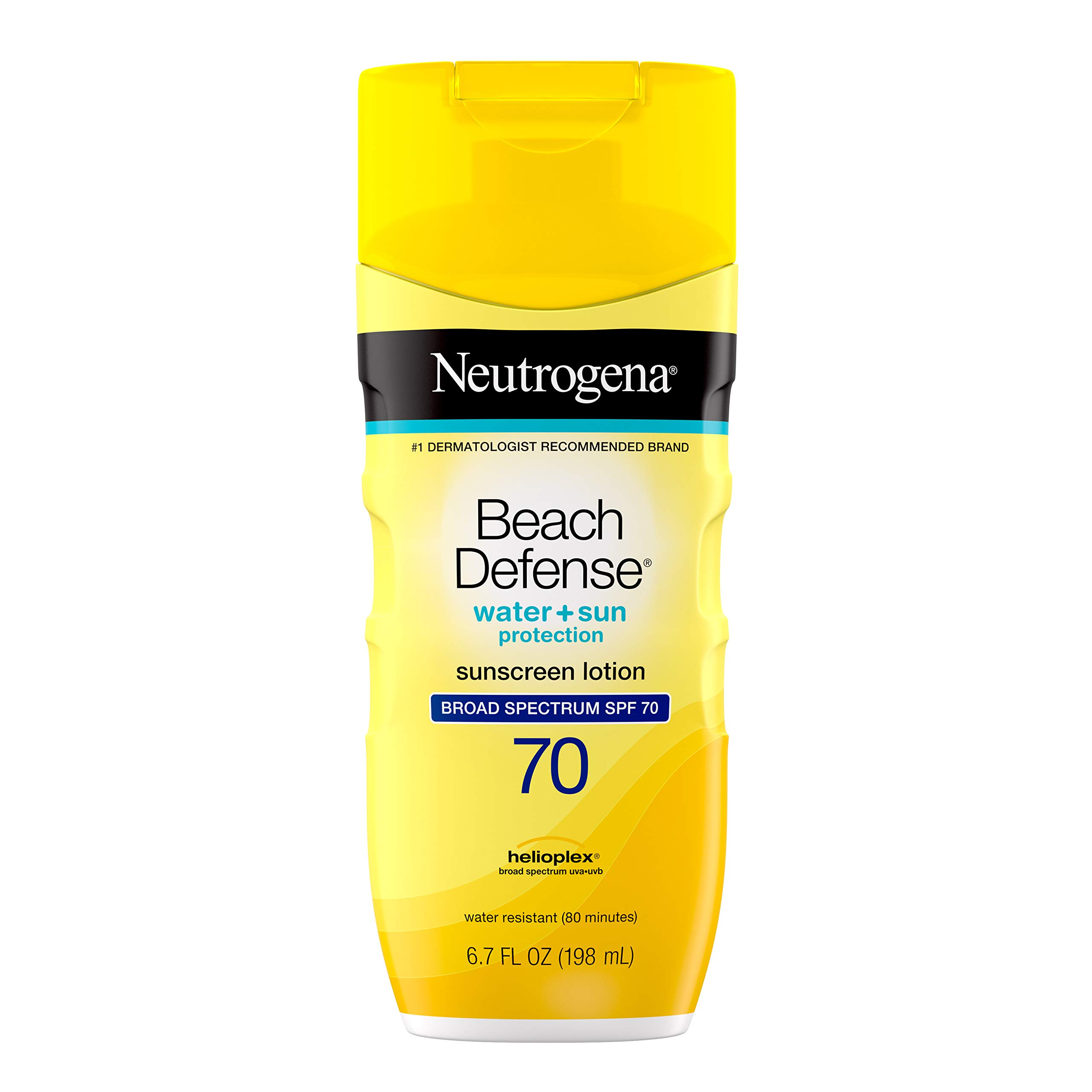 Neutrogena - Neutrogena Beach Defense Water Resistant Sunscreen Body Lotion with Broad Spectrum SPF 70, Oil-Free and Fast-Absorbing, 6.7 oz
