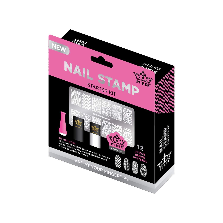 PUEEN - Nail Art Stamping Starter Kit