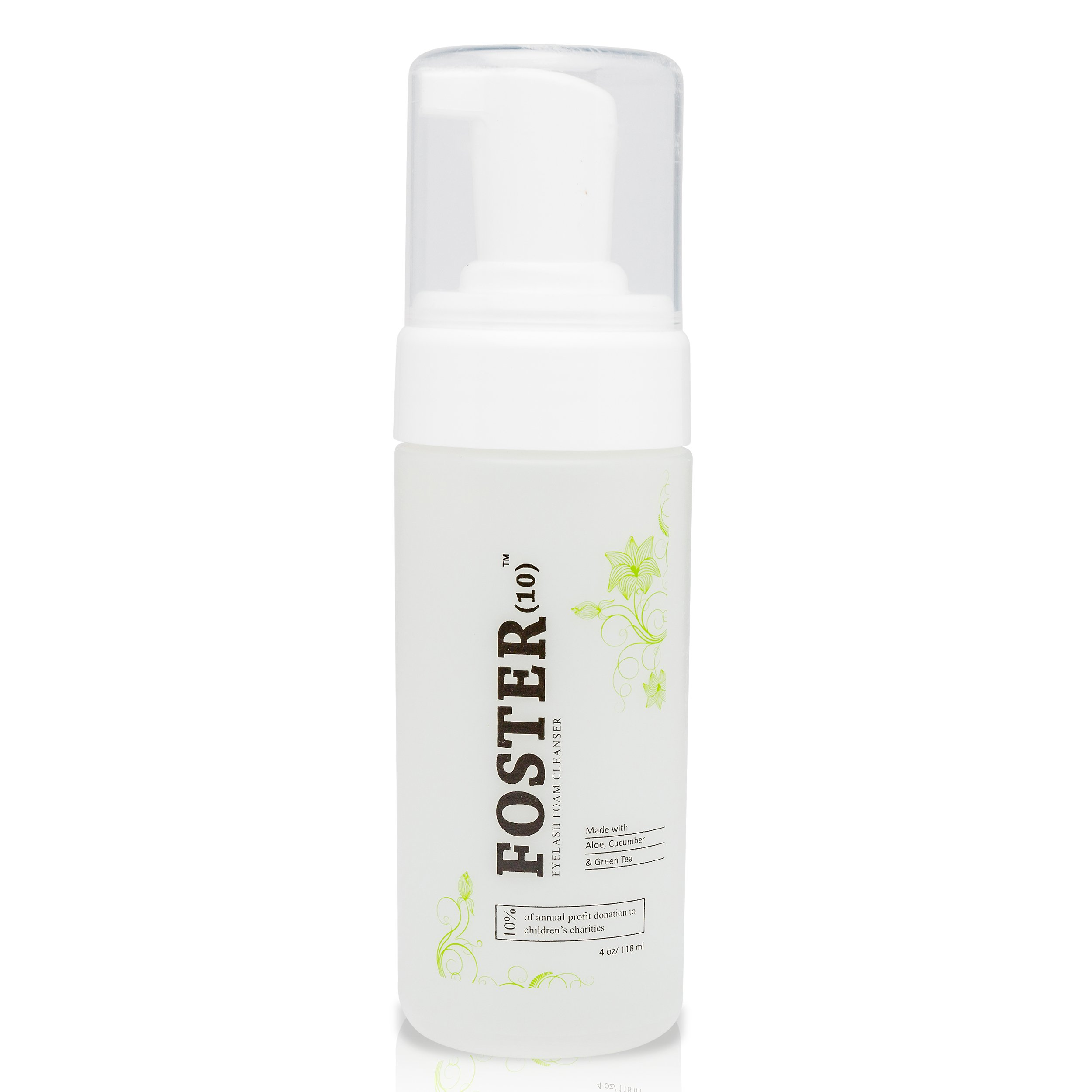 Foster(10) - Foster(10) Eyelash Extension Cleanser -Foaming, Safe for Daily use and is Oil Free, Gentle and made with Pomegranate, Chamomile, Green Tea, Cucumber Extracts, Cruelty Free