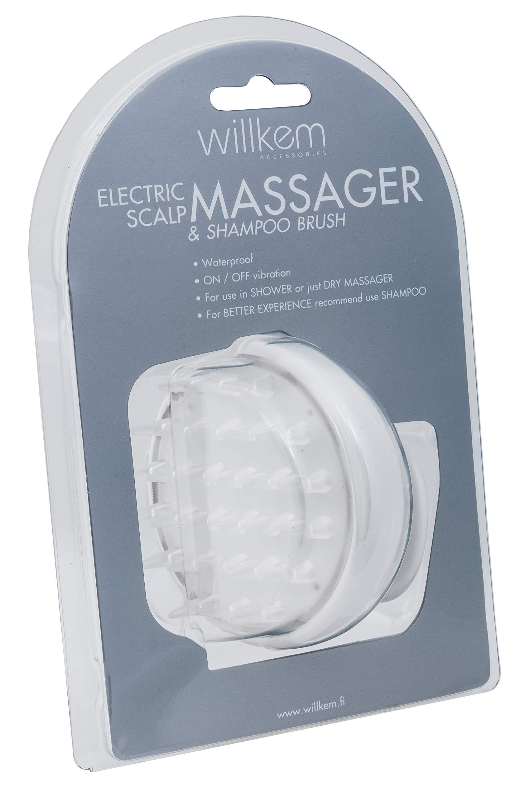 null - Shampoo Brush Vibrating Scalp Massager - Electric Handheld Soft Hair Scrubber