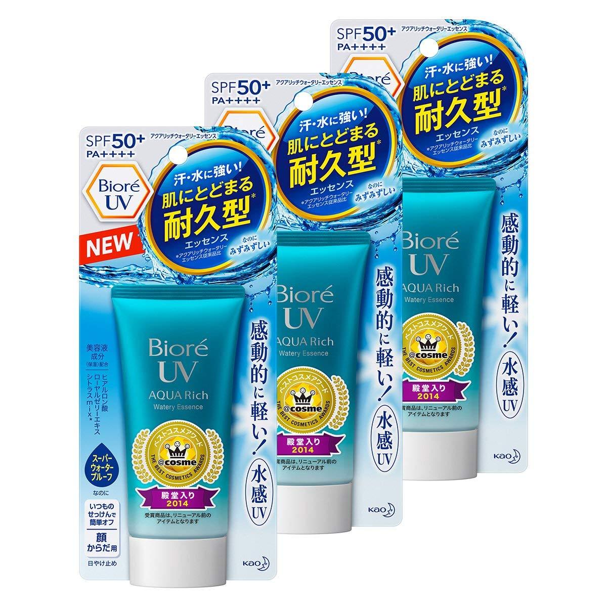 Bioré - Biore UV Aqua Rich Watery Essence SPF50+/PA++++ (pack of 3)