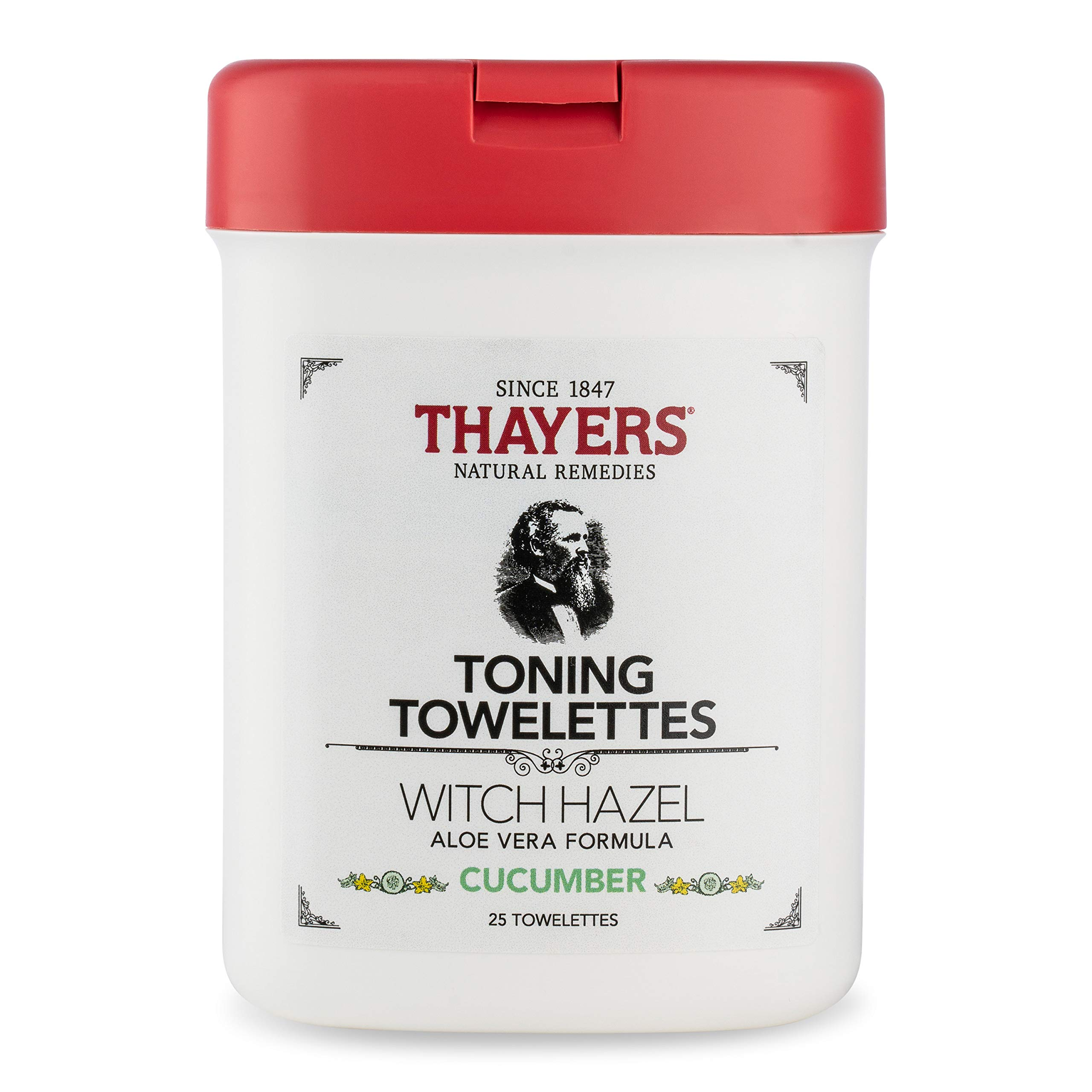 Thayers - Thayers Alcohol-Free Cucumber Witch Hazel Toning Towelettes, 25 Towelettes