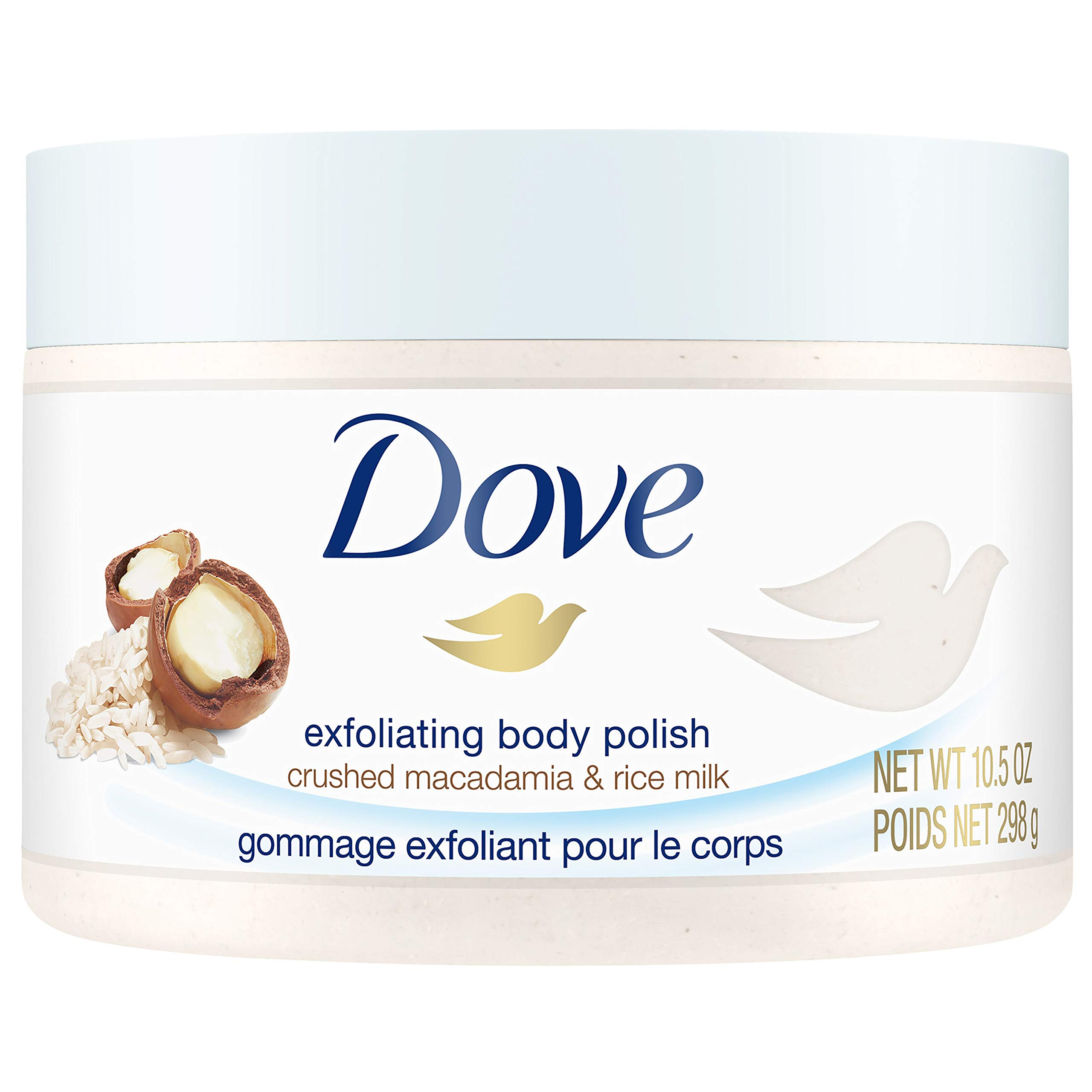 Dove - Dove Exfoliating Body Polish Body Scrub, Macadamia & Rice Milk, 10.5 oz