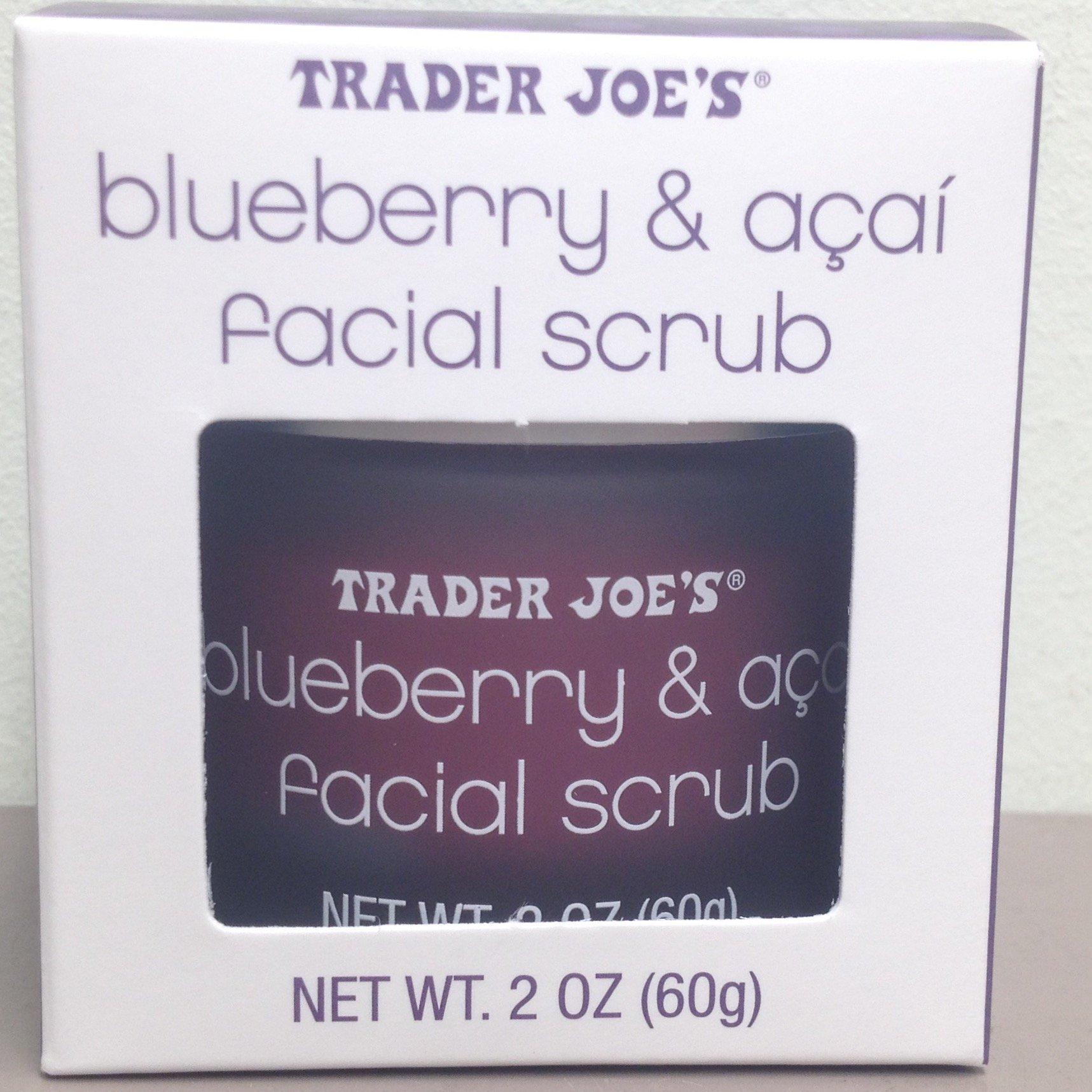 Trader Joe's - Trader Joe's Blueberry and Acai Facial Scrub, 2 Oz Jar