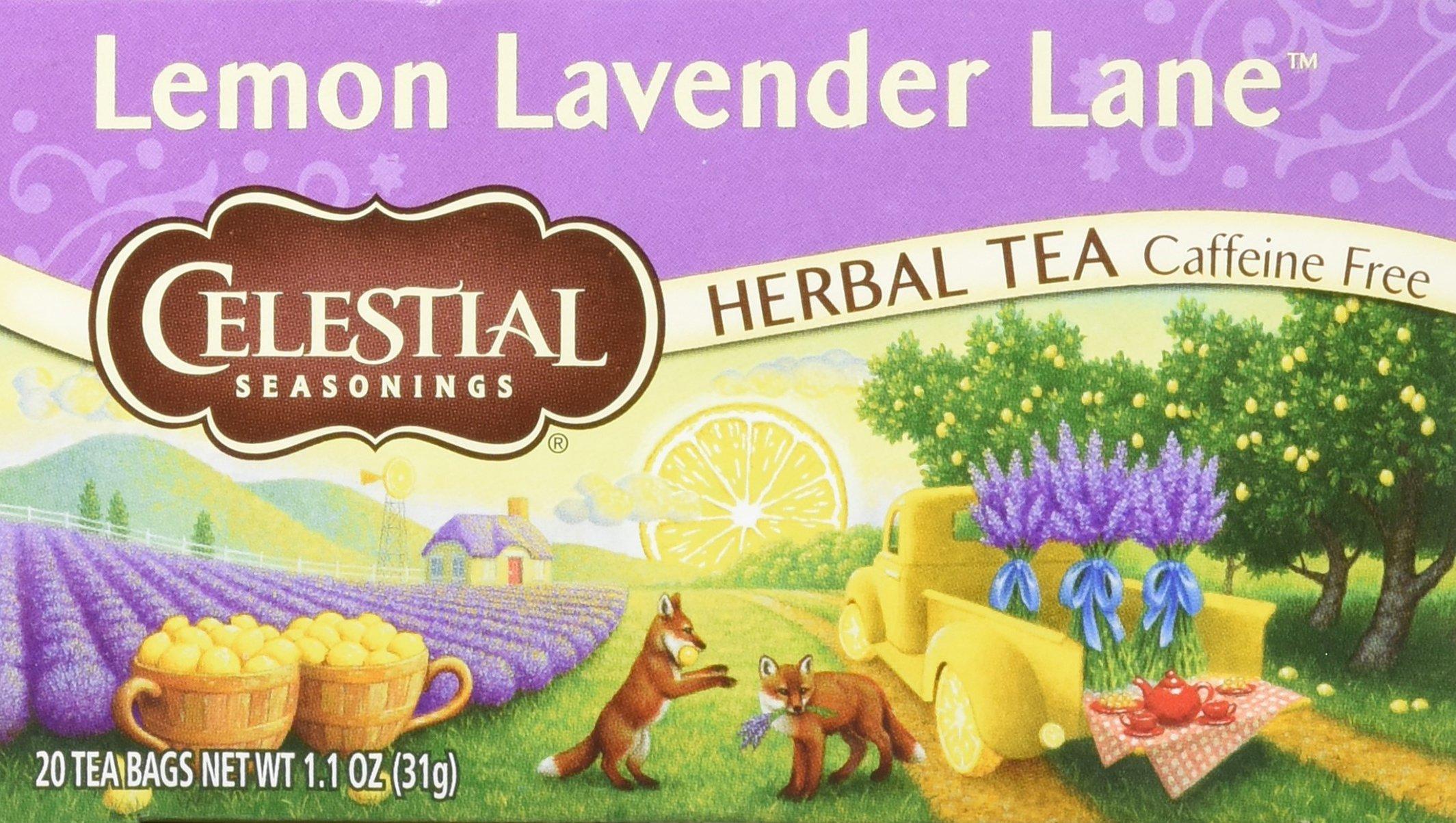 Celestial Seasonings - Celestial Seasonings, Herbal Tea Lemon Lavender Lane, 20 Count