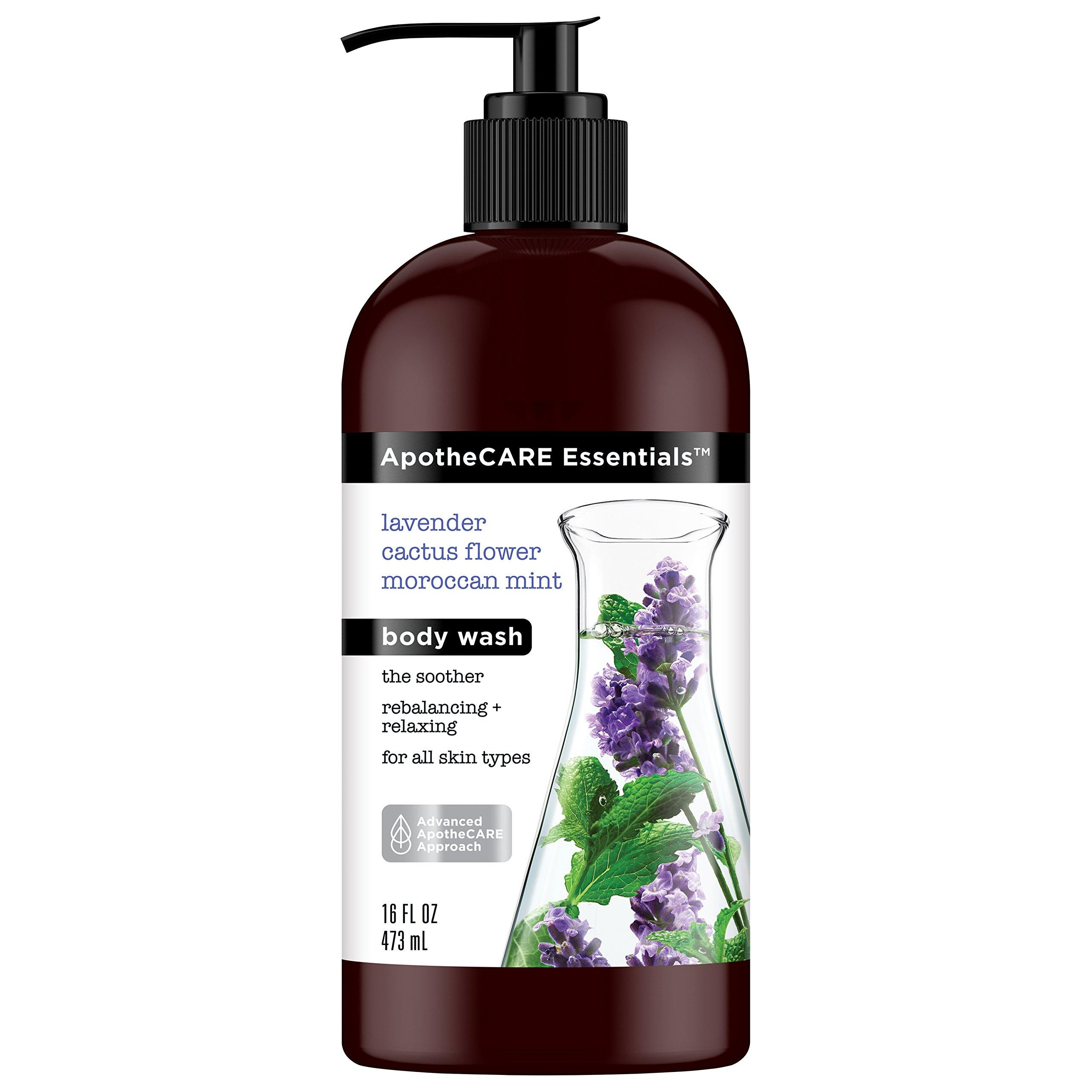 null - ApotheCARE Essentials Body Wash, Lavender, Cactus Flower, Moroccan Mint, 16 oz