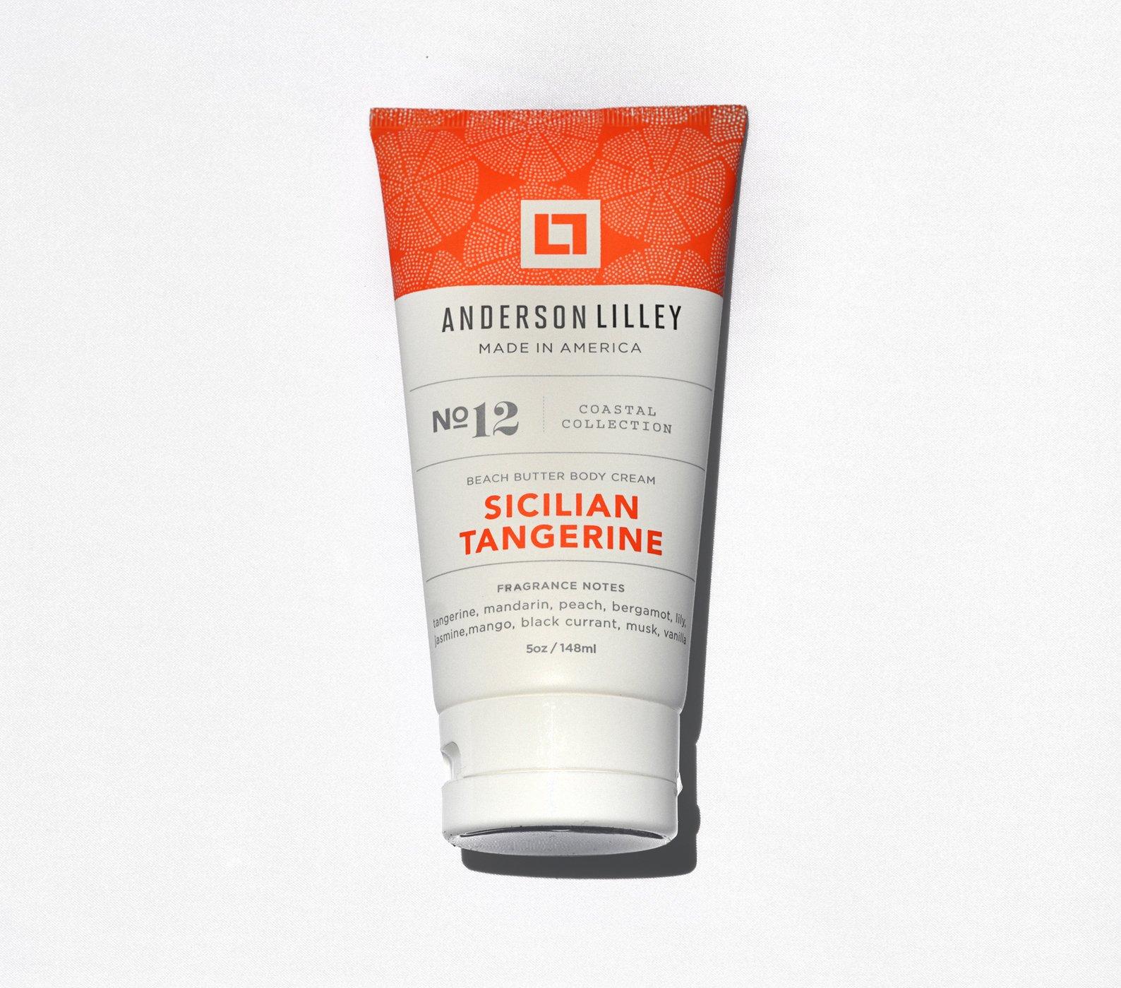 null - ANDERSON LILLEY Sicilian Tangerine Beach Butter Body Cream, Orange, 5 Ounce