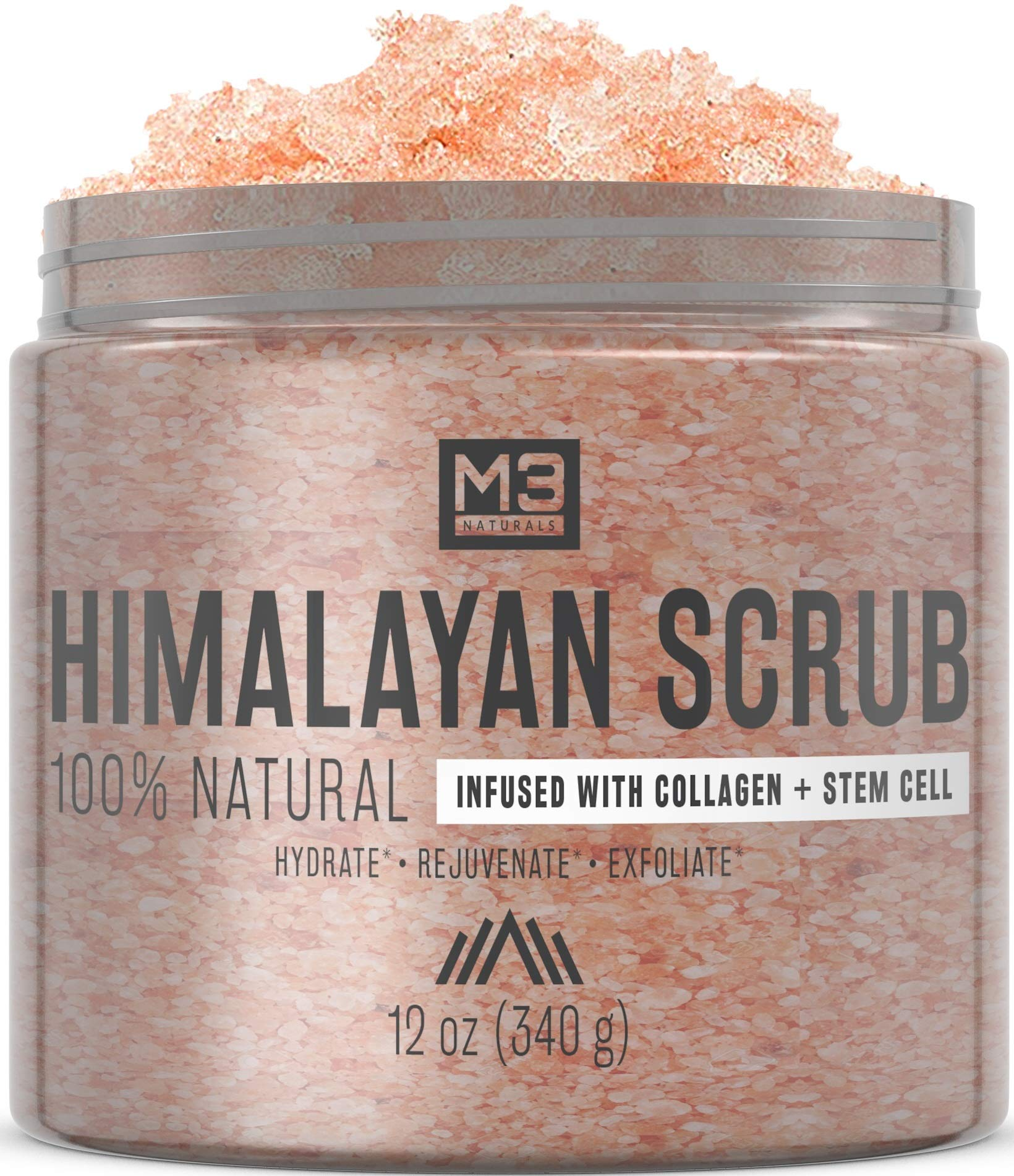 M3 Naturals - Himalayan Salt Infused with Collagen & Stem Cell Body Scrub
