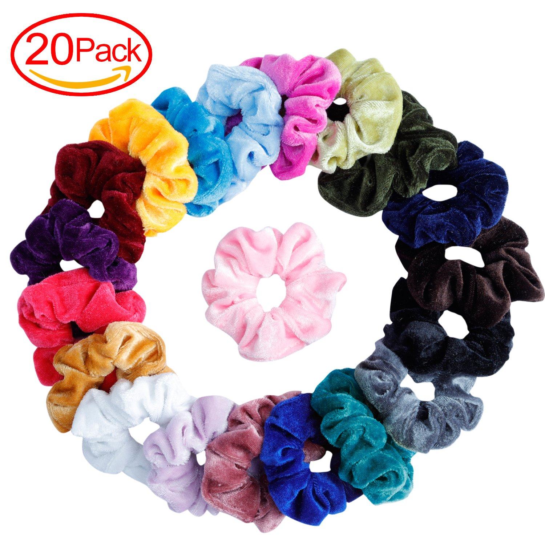 Mandydov - 20 Velvet Hair Scrunchies