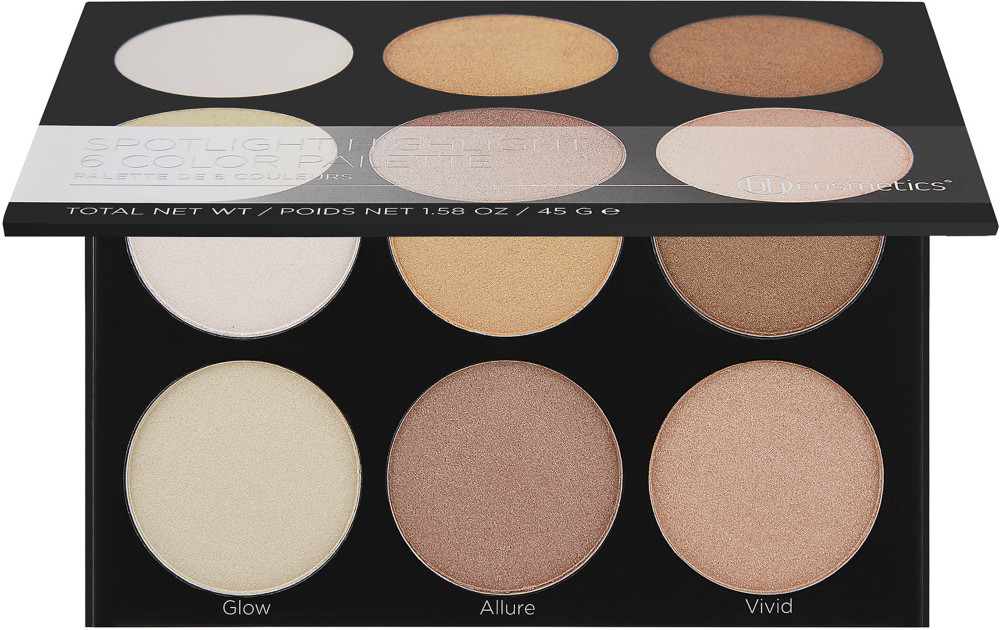 BH Cosmetics - Spotlight Highlight, 6 Color Palette