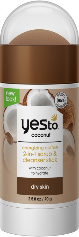 Yes to Coconut Energizing Coffee 2-in-1 Scrub & Cleanser Stick
