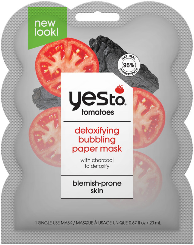 Yes to - Tomatoes Charcoal Bubbling Paper Mask