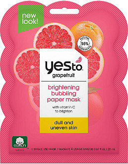 Yes to - Grapefruit Bubbling Paper Mask