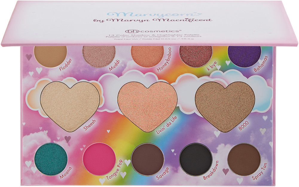 BH Cosmetics - Marvycorn by Marvyn Macnificent - 13 Color Shadow & Highlighter Palette