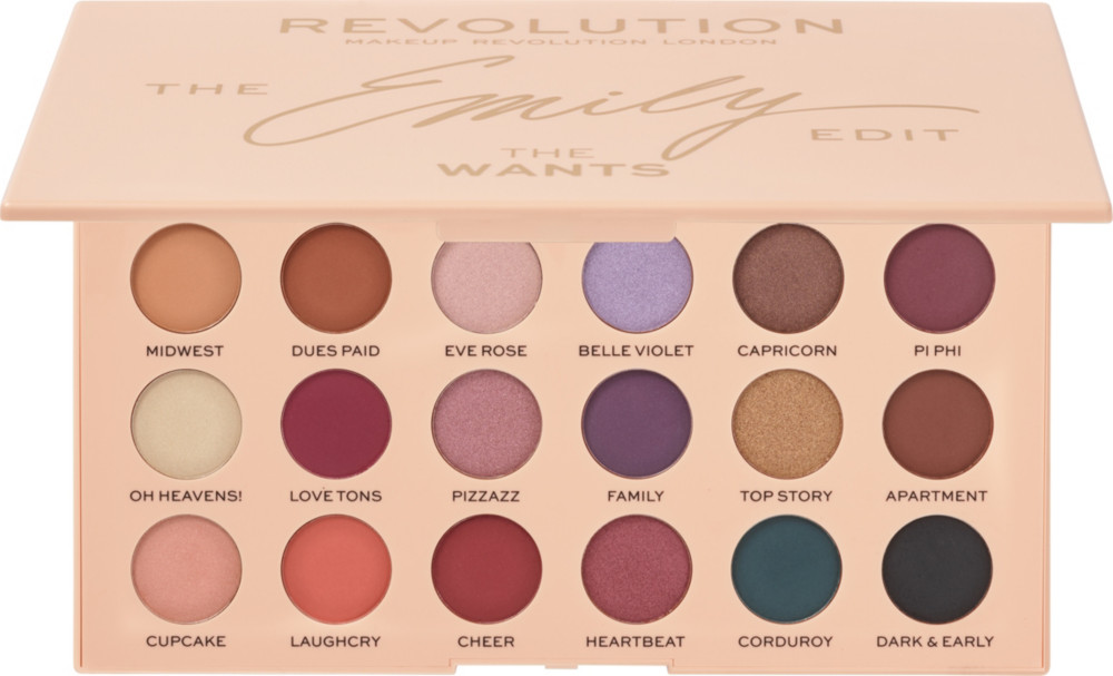 Makeup Revolution -  Revolution x The Emily Edit, The Wants Eyeshadow Palette