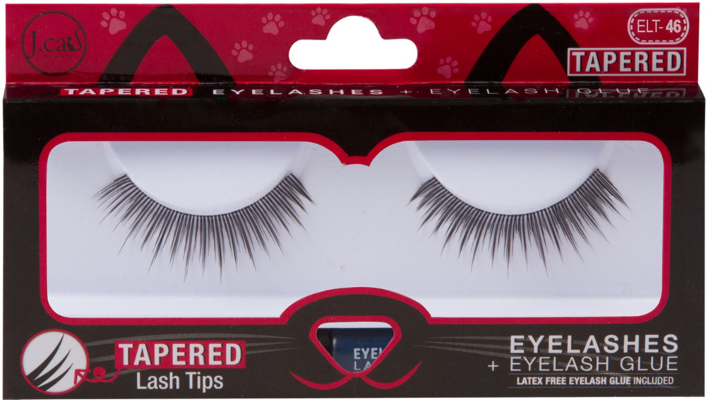J.Cat - J.Cat Beauty Tapered Lashes + Glue #ELT46