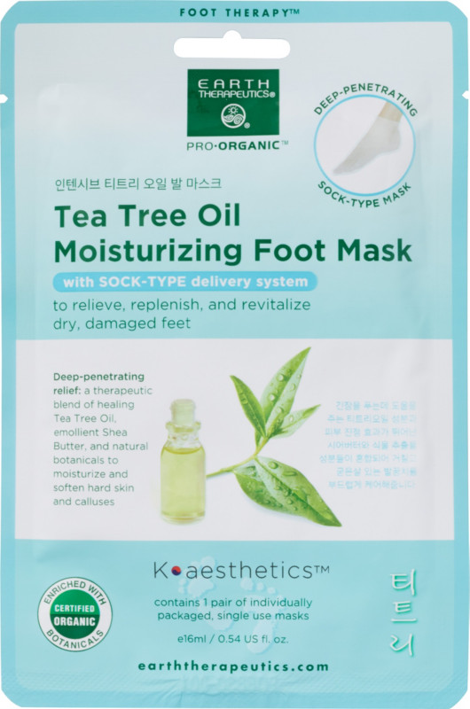 Earth Therapeutics - Earth Therapeutics Tea Tree Oil Moisturizing Foot Mask