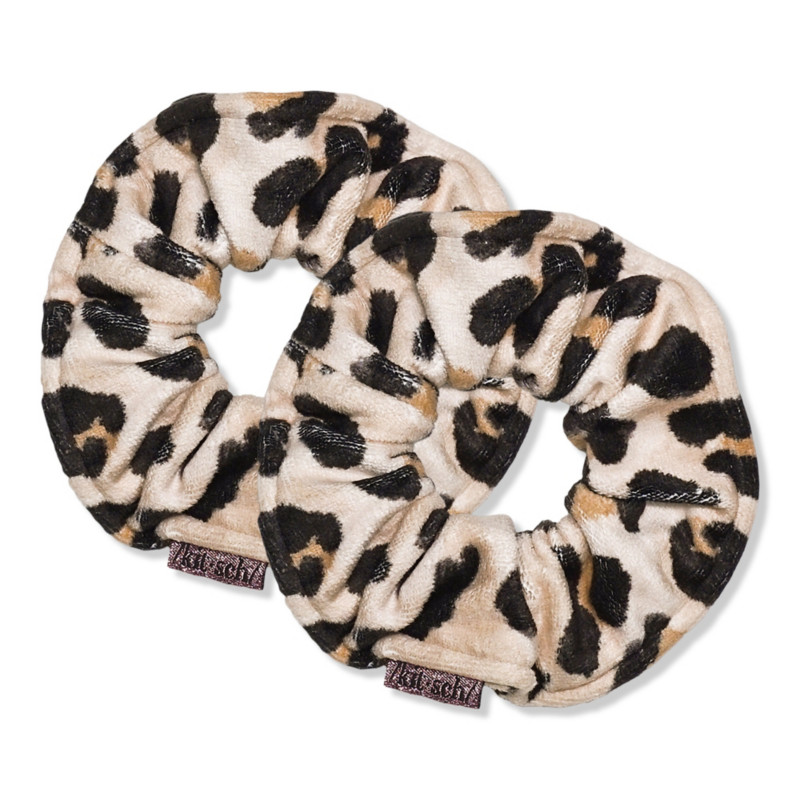 Kitsch - Kitsch Leopard Microfiber Towel Scrunchies