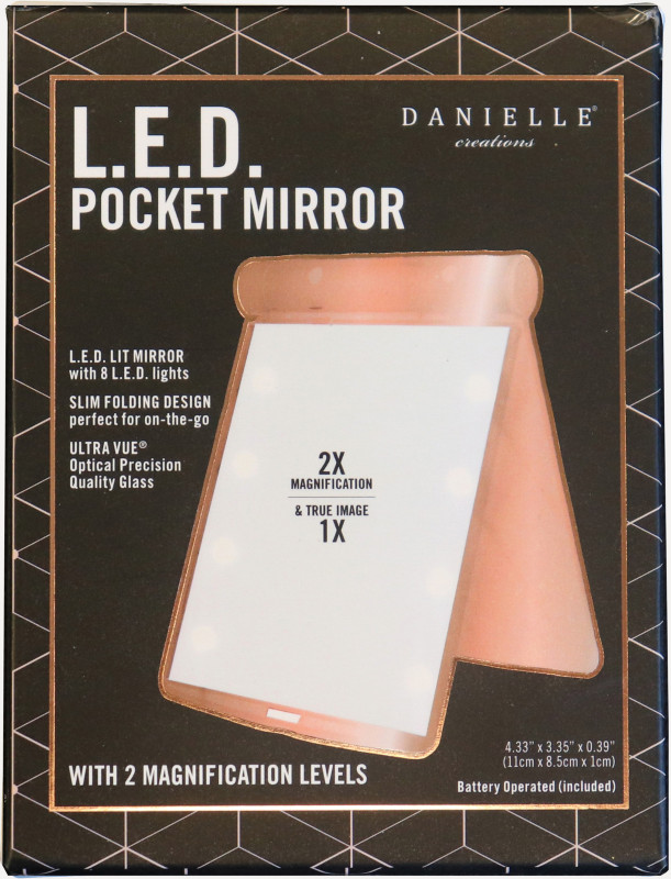 Danielle - Danielle LED Pocket-Sized Mirror Rose Gold