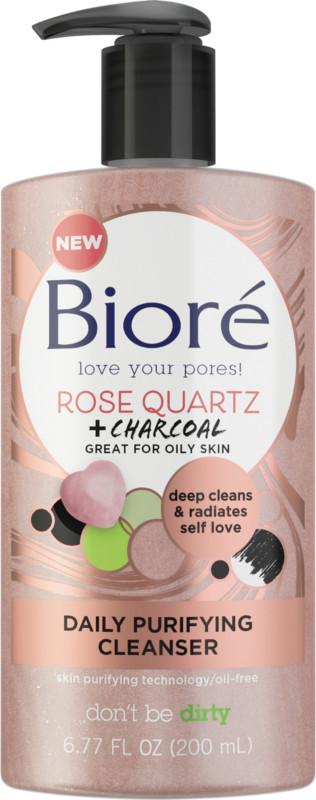 Bioré - Bioré Rose Quartz + Charcoal Daily Purifying Cleanser