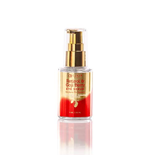 Azure Cosmetics - Retinol & Goji Berry Anti Aging Eye Serum - Moisturizes & Tones | Combats Pollutants | Reduce Wrinkles and Fine Lines - 30mL