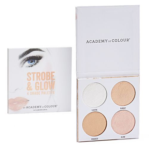 null - Academy of Colour Strobe & Glow 4 Shade Shimmer Powder Palette
