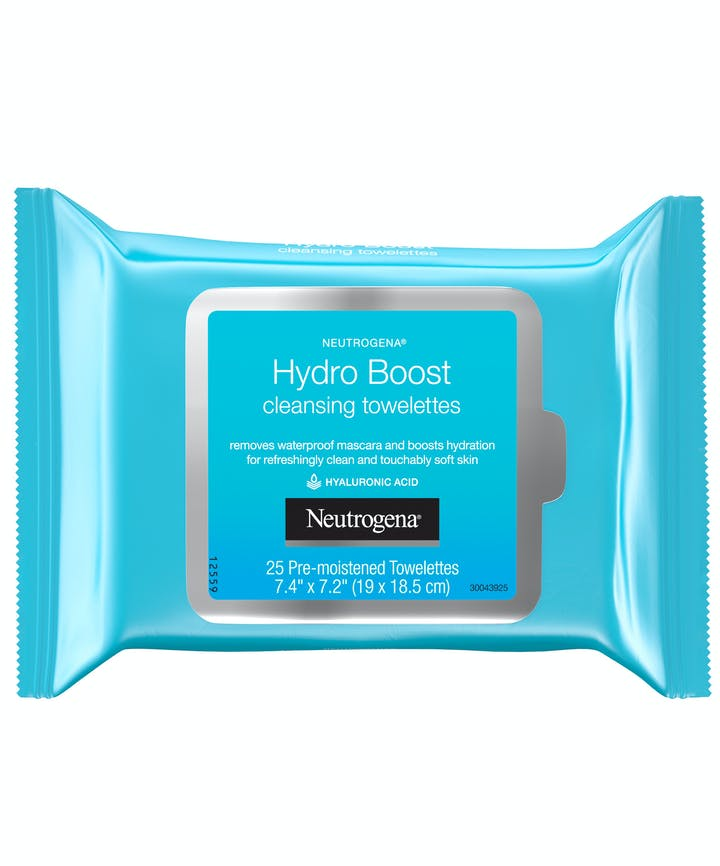 Neutrogena - Hydro Boost Facial Cleansing Wipes with Hyaluronic Acid - 25 Count