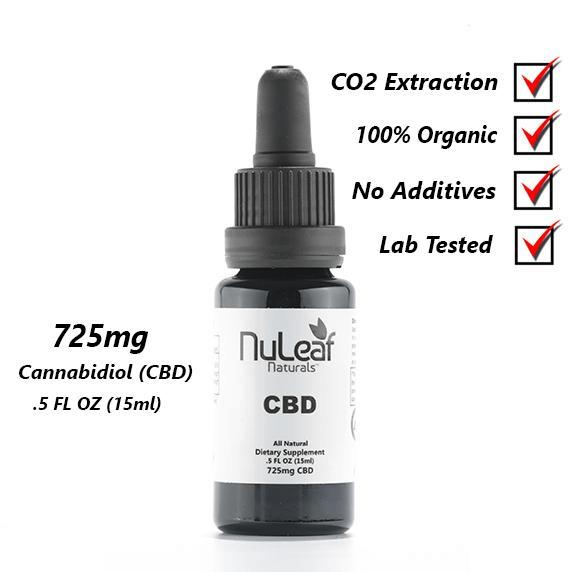 null - 725mg Full Spectrum CBD Oil, High Grade Hemp Extract (50mg/ml)