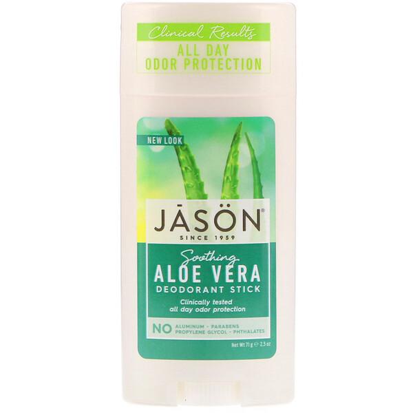 Jason Natural - Jason Natural, Deodorant Stick, Soothing Aloe Vera, 2.5 oz (71 g)