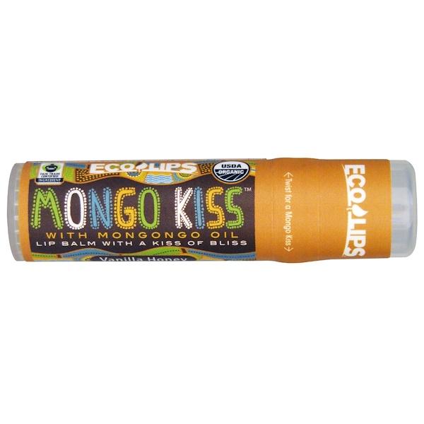 Eco Lips Inc. Mongo Kiss, Lip Balm, Vanilla Honey